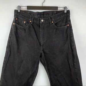 Levi's Black 100% Cotton 550 Relaxed Fit Jeans